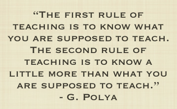 George Polya on teaching math