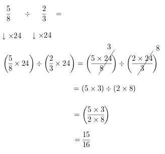 dividing by fraction