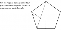 Pentagon to Quadrilateral Puzzle