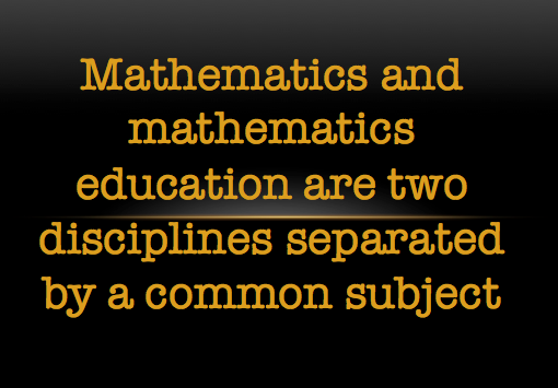 Winston Churchill on mathematics education