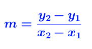 formula for slope
