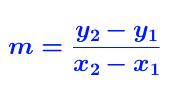 formula for slope
